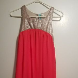 Summertime coral dress